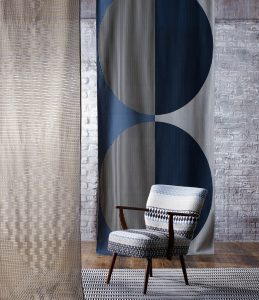 Woven sheer contemporary stylish fabrics for a range of interior textile applications.